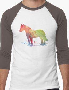 Horse portrait Men's Baseball ¾ T-Shirt
