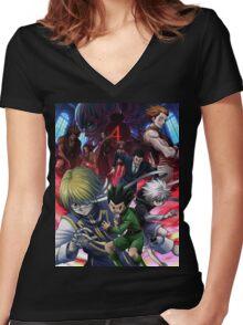 Hunter X Hunter Women's Fitted V-Neck T-Shirt