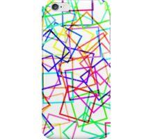 Bright Neon Modern Square Geo Pattern iPhone Case/Skin