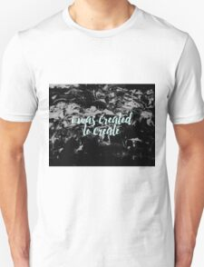 Create Marble Quote Design Unisex T-Shirt