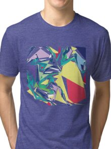 Colorful Abstract Jagged Geometric Pattern Tri-blend T-Shirt