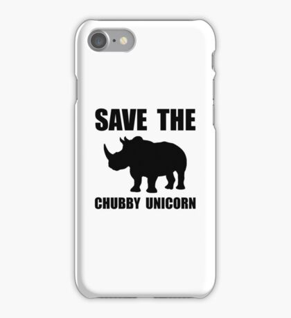 Chubby Unicorn Rhino iPhone Case/Skin