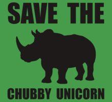 Chubby Unicorn Rhino One Piece - Short Sleeve