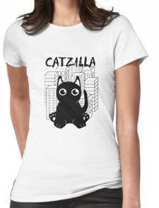 Catzilla Print Womens Fitted T-Shirt