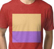 Sunshine Yellow and Purple Color Blocks Tri-blend T-Shirt