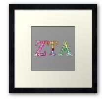 Zeta Tau Alpha Framed Print