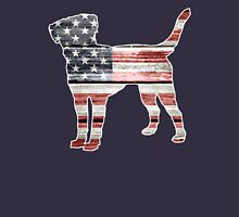 Patriotic Labrador Retriever, American Flag Unisex T-Shirt