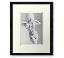 ivory statue Framed Print