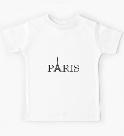 Paris Eiffel Tower Kids Tee