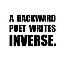 Poet Writes Inverse Photographic Print