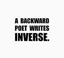 Poet Writes Inverse Unisex T-Shirt