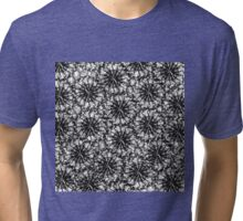 Modern Black and White Smoke Pattern Tri-blend T-Shirt