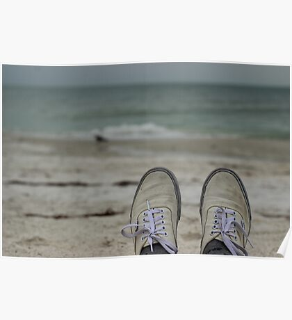Vans on the Beach Poster