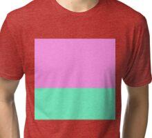 Elegant Teal and Purple Color Blocks Tri-blend T-Shirt
