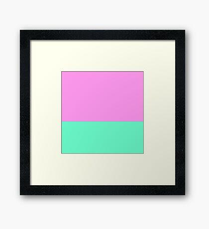 Elegant Teal and Purple Color Blocks Framed Print