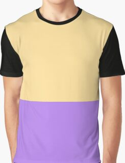 Sunshine Yellow and Purple Color Blocks Graphic T-Shirt