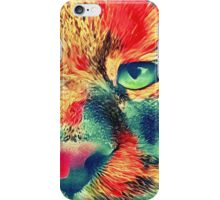 Artificial neural style wild cat iPhone Case/Skin
