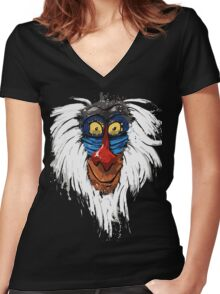 Rafiki-The Lion King Women's Fitted V-Neck T-Shirt