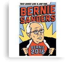 Bernie Comic Canvas Print
