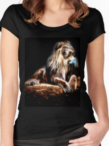 Glow Lion Women's Fitted Scoop T-Shirt