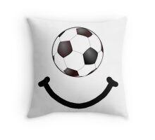 Soccer Smile Throw Pillow