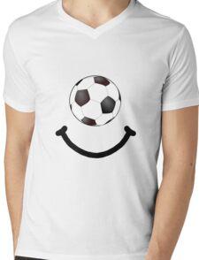 Soccer Smile Mens V-Neck T-Shirt