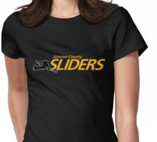 Simcoe County Sliders Logo Womens Fitted T-Shirt