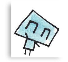 Icklo the robot waving Canvas Print