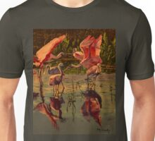 Sunset Spoonbills Unisex T-Shirt
