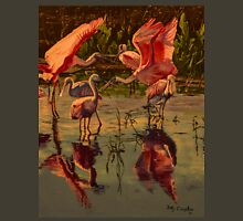 Sunset Spoonbills Unisex T-Shirt