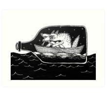 sailor dog Art Print