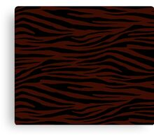 0392 Black Bean Tiger Canvas Print