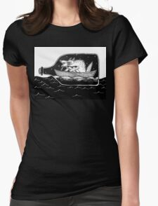 sailor dog Womens Fitted T-Shirt