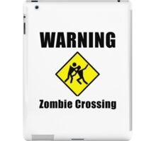 Zombie Crossing iPad Case/Skin