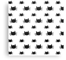 Kitties | White Canvas Print