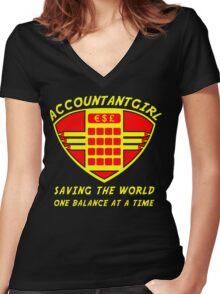 Accountantgirl Women's Fitted V-Neck T-Shirt