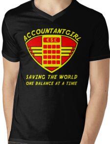 Accountantgirl Mens V-Neck T-Shirt