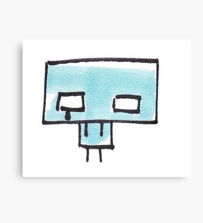 Sad Icklo robot Canvas Print