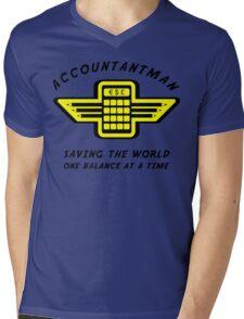 Accountantman Mens V-Neck T-Shirt