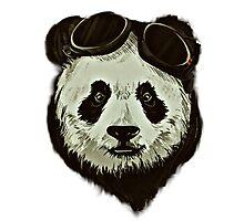 Hipster Panda Photographic Print