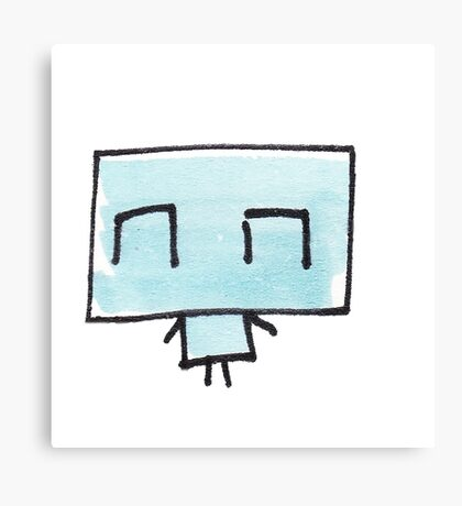 Icklo The robot is happpppyy Canvas Print