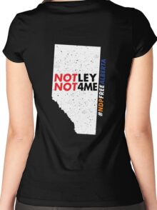 NDP Free Alberta Women's Fitted Scoop T-Shirt