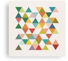 Triangles 3 by Latte Canvas Print