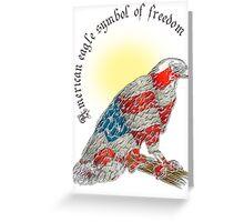 America eagle symbol of freedom Greeting Card