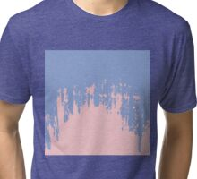 Rose Quartz and Serenity Blue Paint Strokes Tri-blend T-Shirt