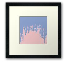 Rose Quartz and Serenity Blue Paint Strokes Framed Print