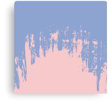 Rose Quartz and Serenity Blue Paint Strokes Canvas Print