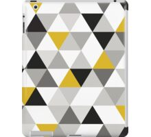 Triangles Black, White and yellow iPad Case/Skin