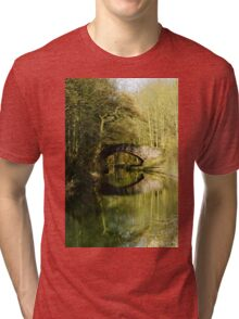 Serene Canal with Reflection Tri-blend T-Shirt