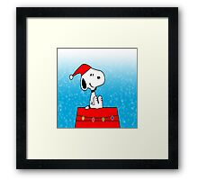 Snoopy before Christmas Framed Print